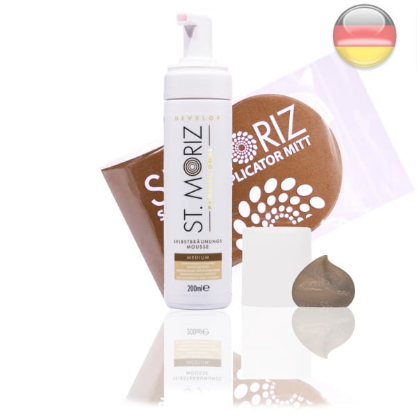 St. Moriz Mousse Medium 200 ml & Original-Applikator