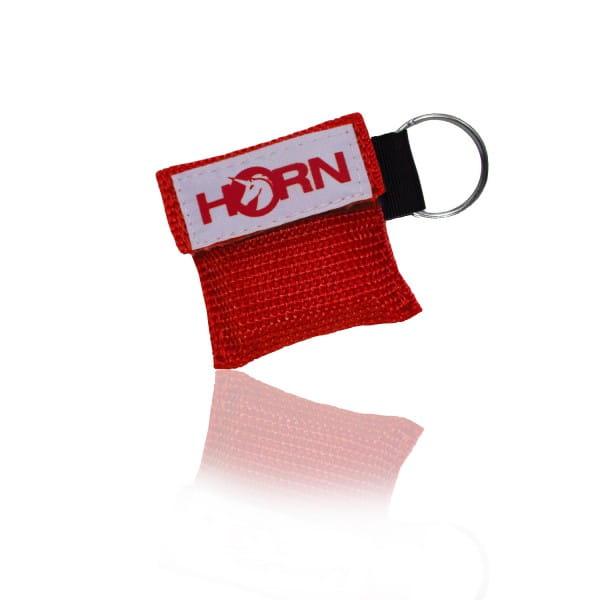 Horn-Key -Beatmungstuch im Schluesselanhaenger-